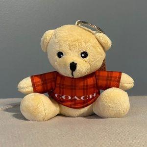 Coach limited edition Teddy Bear Key Chain